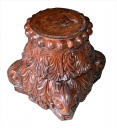 Wooden Carved Planter Stand